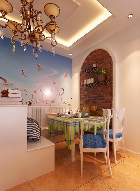 餐厅效果图 地中海风格 蓝堡湾 餐厅图片来自超凡装饰季国华在蓝堡湾装修效果图的分享