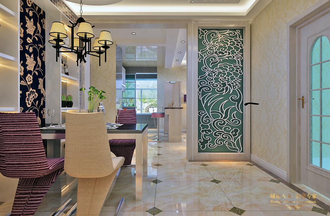 简约 做好的家装 设计案例 餐厅图片来自太原城市人家装饰在圣湖观澜国际—110平米设计的分享