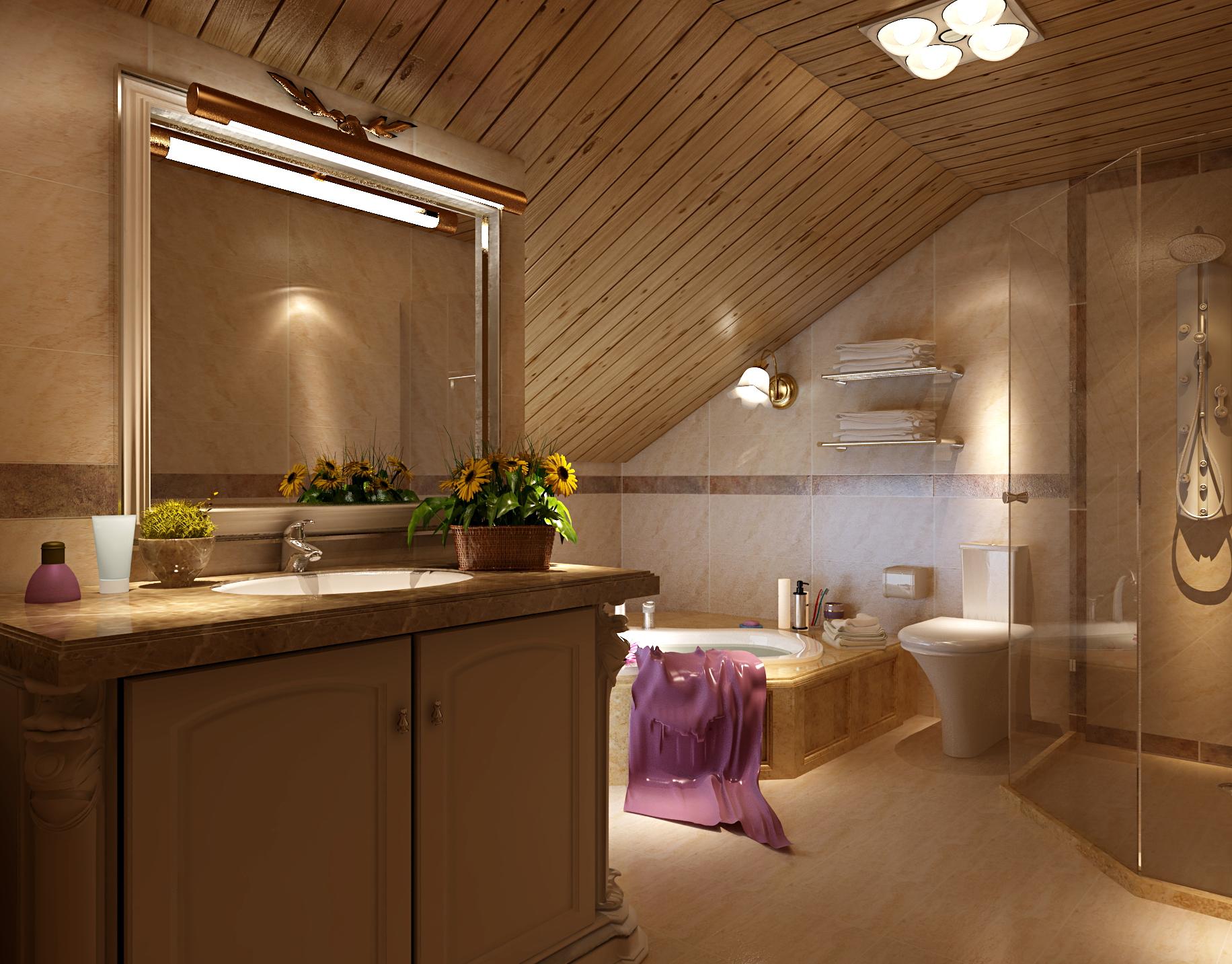欧式 复式 设计 卫生间图片来自尚层装饰大林在复式经典案例赏析--温暖的奢华的分享