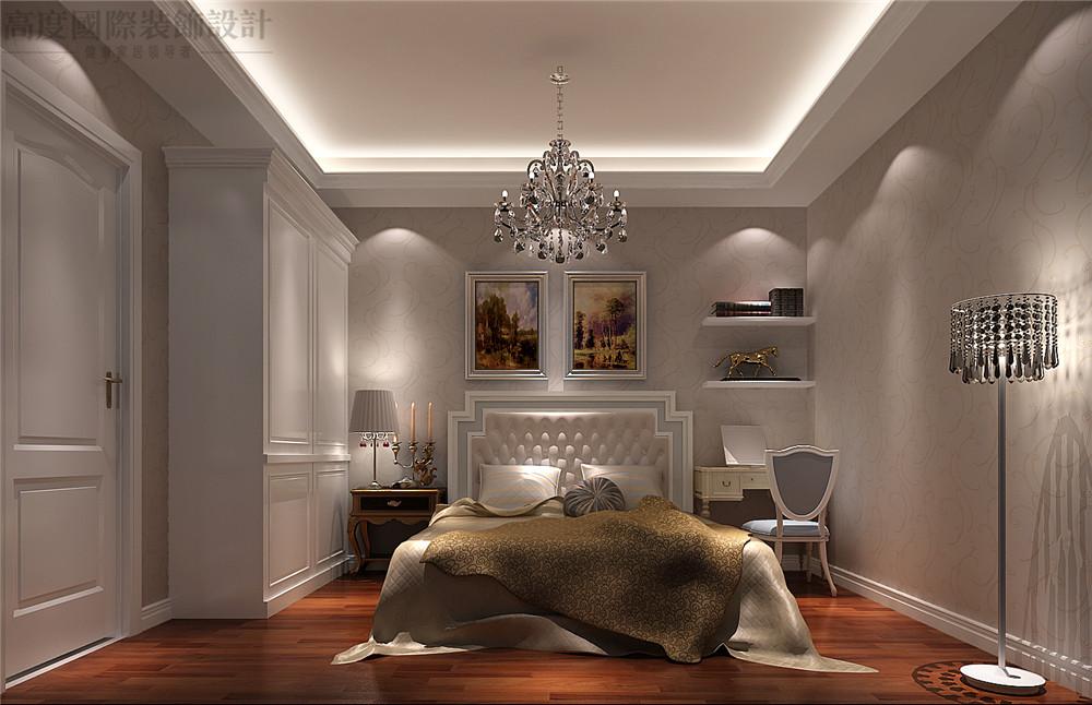 简欧 装修 设计 百合湾 二居 卧室图片来自高度国际别墅装饰设计在80平米公寓简欧风格装修设计的分享