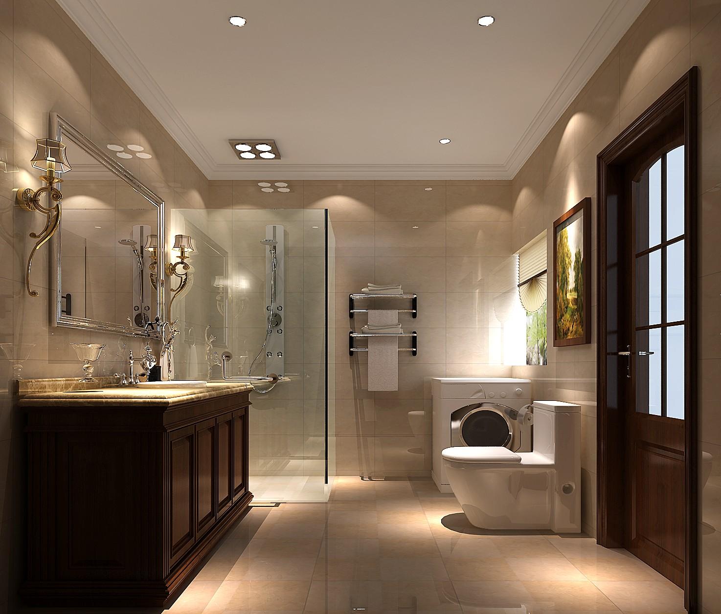 高度国际 御翠尚府 复式 欧式 卫生间图片来自高度国际在高度国际-设计装饰复式楼的分享