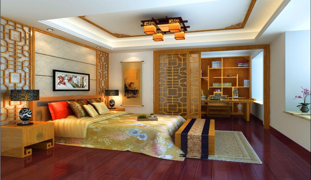 卧室图片来自深圳市浩天装饰在绿景香颂的分享