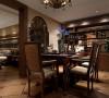 郑州市大河龙城三居室古典风格装修效果图【餐厅设计效果图】