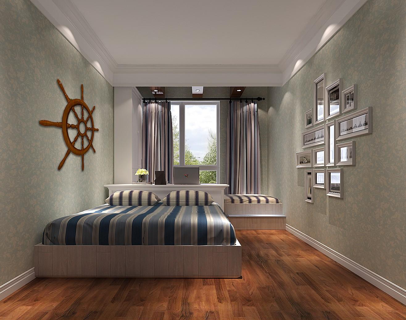 高度国际 长滩壹号 田园 公寓 卧室图片来自高度国际在高度国际-168平米田园风的分享
