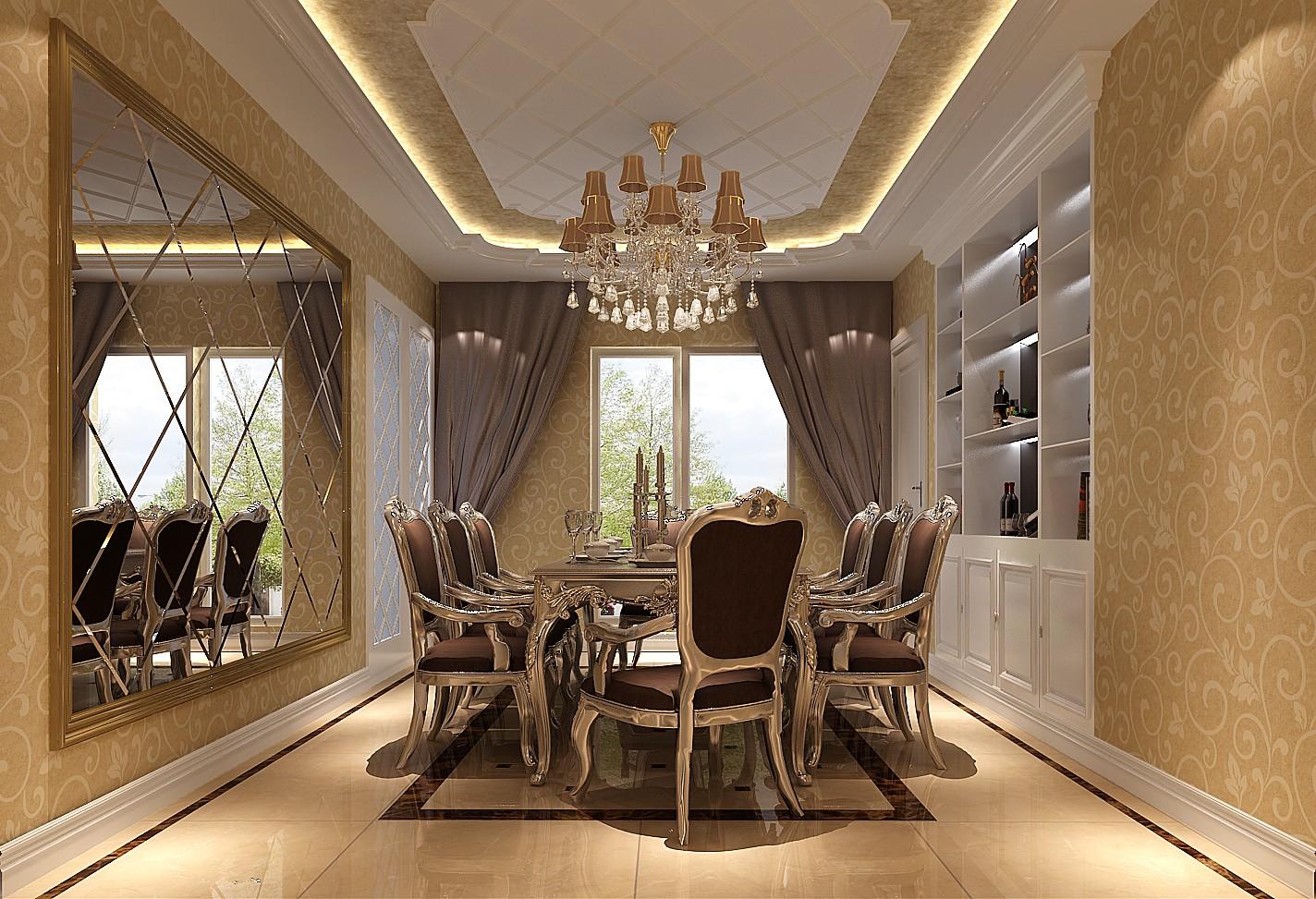 欧式 四居 平层 北京装修 高度国际 白领 小资 餐厅图片来自高度国际装饰华华在华侨城欧式设计的分享
