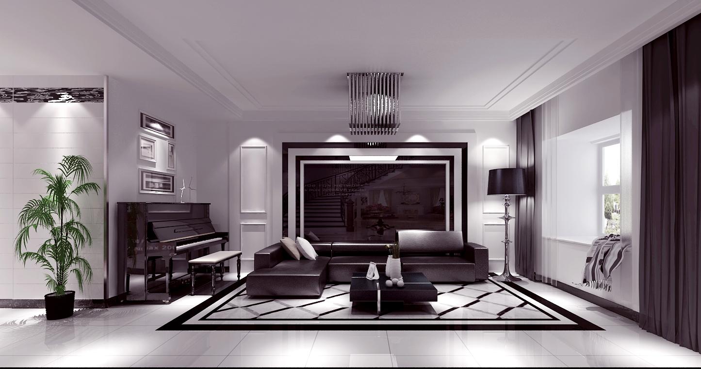 高度国际 尚峰尚水 现代简约 公寓 客厅图片来自高度国际在高度国际-正源尚府尚水设计的分享