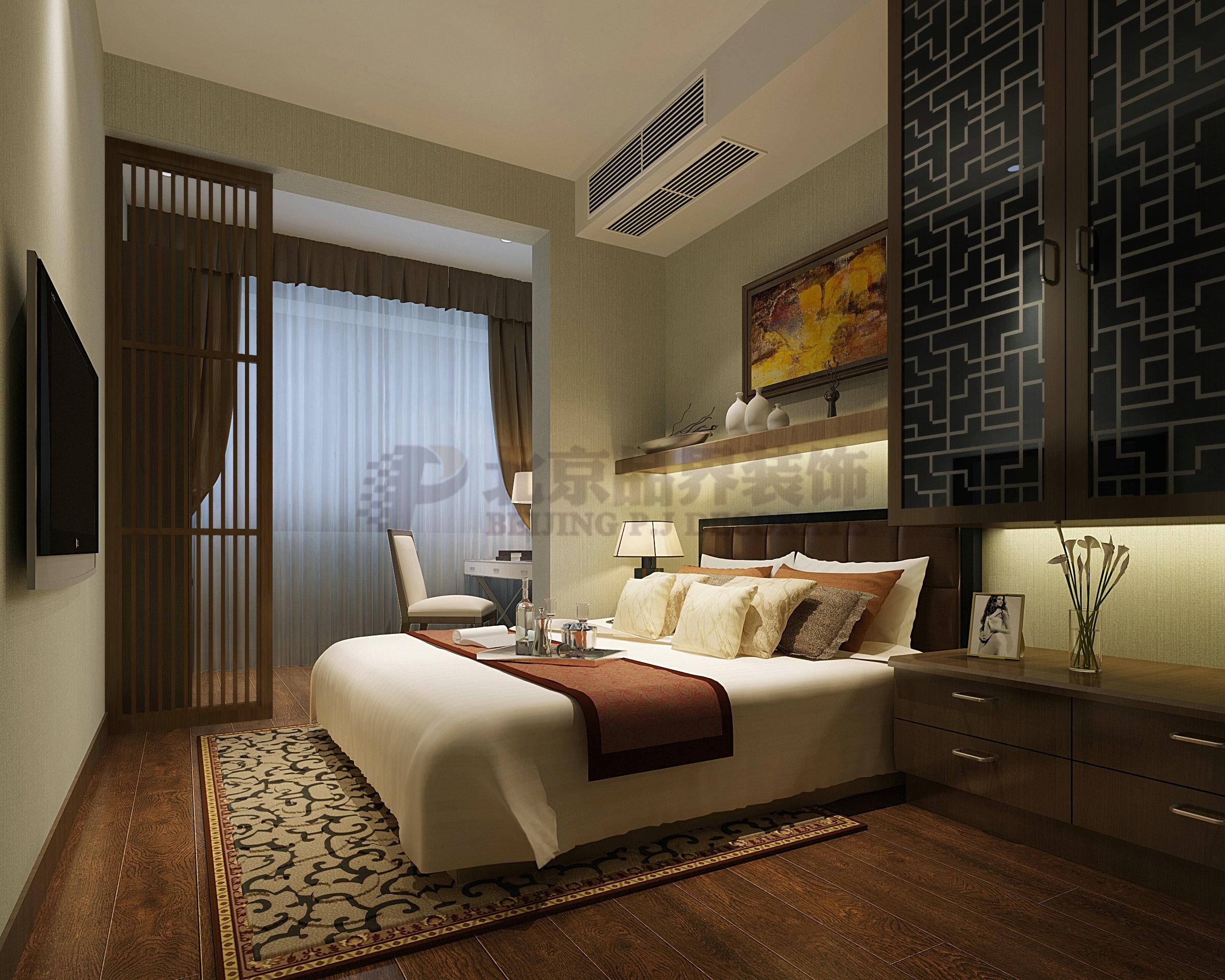 卧室图片来自石家庄品界国际装饰在品界国际装饰新中式风格的分享