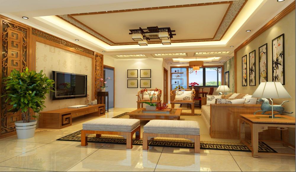 客厅图片来自深圳市浩天装饰在绿景香颂的分享