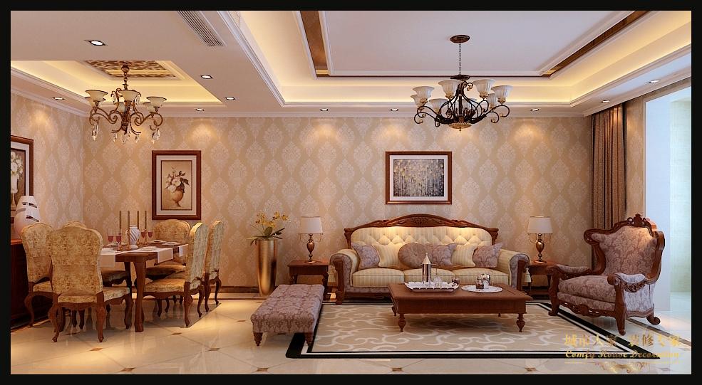 城市人家 太原装修 设计风格 新古典 客厅图片来自太原城市人家装饰在东唐花园—145平米设计的分享