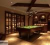内装也充分利用了地下室做了私人化的设计,台球,酒吧,影音厅一应俱全!人生乐趣在此,别无他求啊!