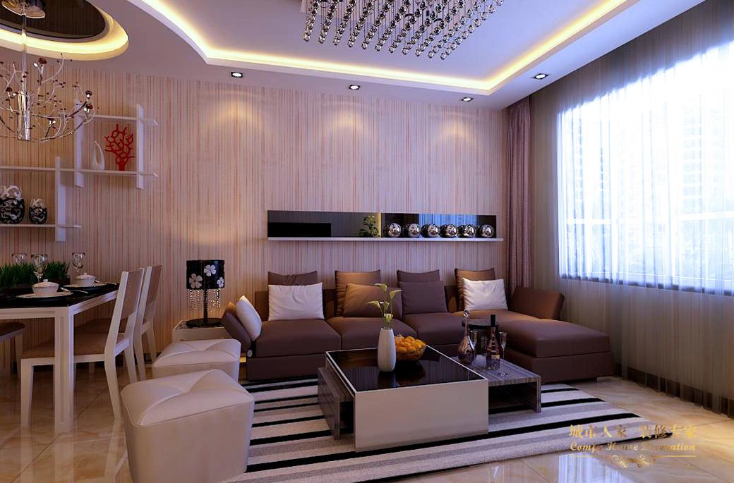 简约 城市人家 设计案例 现代简约 客厅图片来自太原城市人家装饰在富士康苑—120平米设计案例的分享
