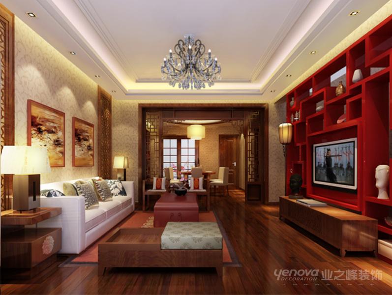 中式 古典 诗韵 二居 客厅图片来自北京业之峰郑州直营店在木兰亭,诠释中华涵韵的分享