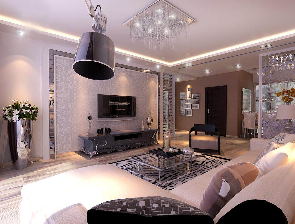 简约 二居 客厅图片来自百家设计小刘在景星花园 80平  现代风格 2.8万的分享