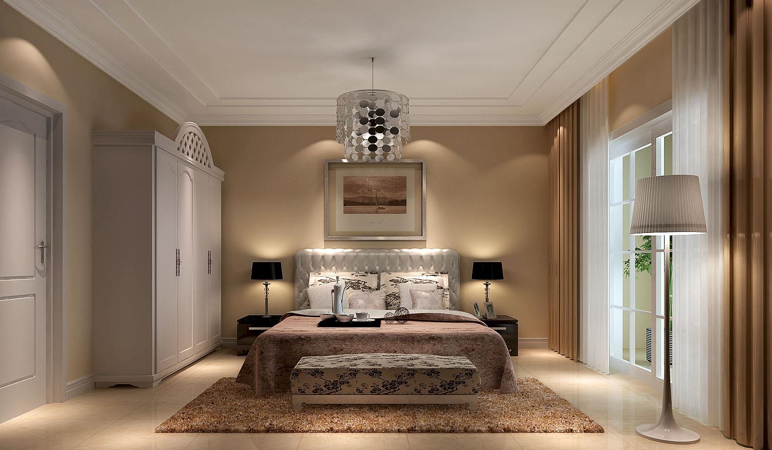 影人四季 高度国际 三居 简约 现代 白领 80后 收纳 白富美 卧室图片来自北京高度国际装饰设计在影人四季150平现代公寓的分享