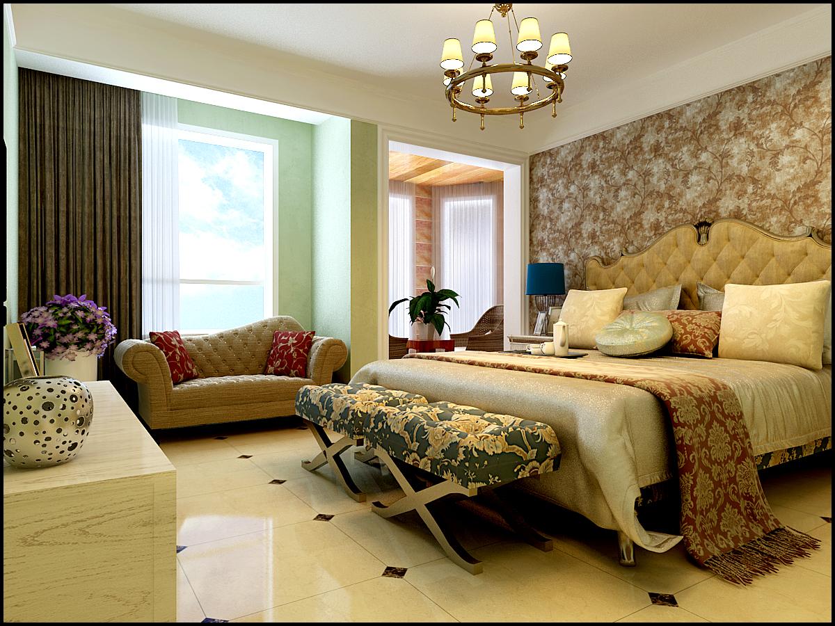 田园 地中海 卧室图片来自石家庄城市人家装饰在石家庄国赫红珊湾地中海田园风格的分享