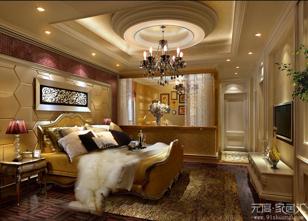 欧式 简约 混搭 三居 白领 80后 小资 卧室图片来自室内设计装饰在川豪装饰简欧风格装修案例的分享