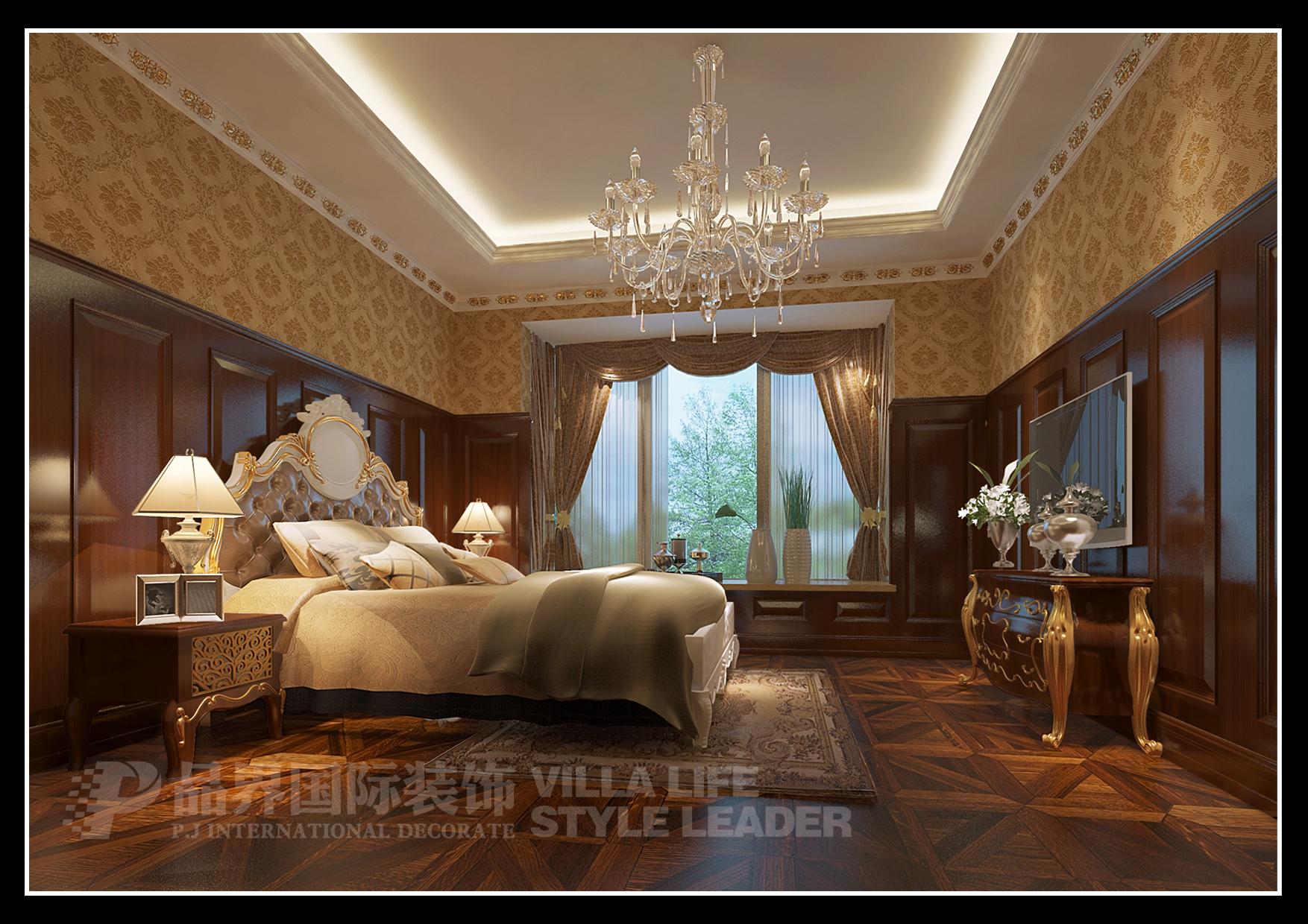 欧式 卧室图片来自石家庄品界国际装饰在恒大华府欧式风格装修的分享