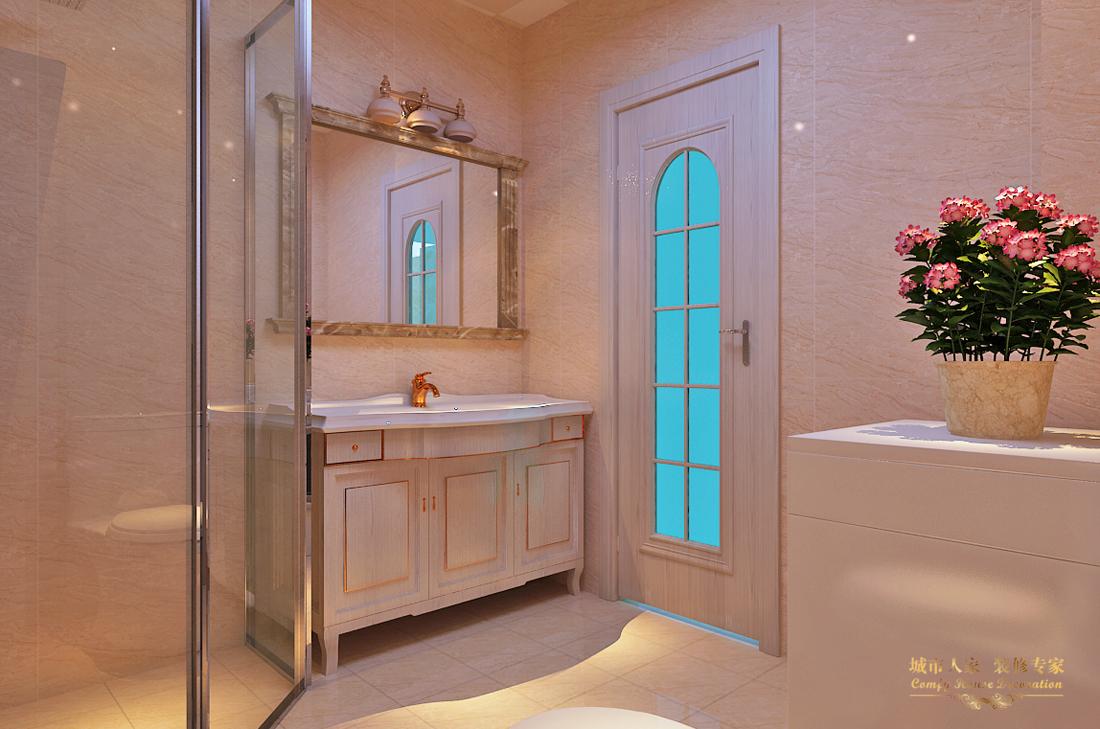 简约 做好的家装 设计案例 卫生间图片来自太原城市人家装饰在圣湖观澜国际—110平米设计的分享