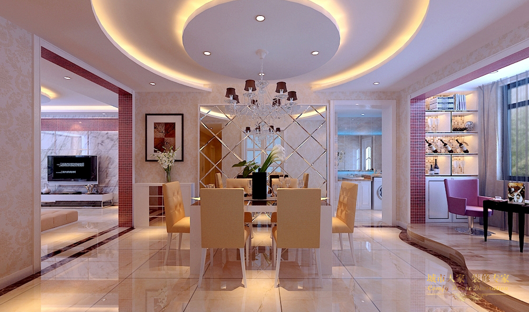 简约 城市人家 做好的家装 设计案例 风格 餐厅图片来自太原城市人家装饰在丽泽苑—158设计方案的分享