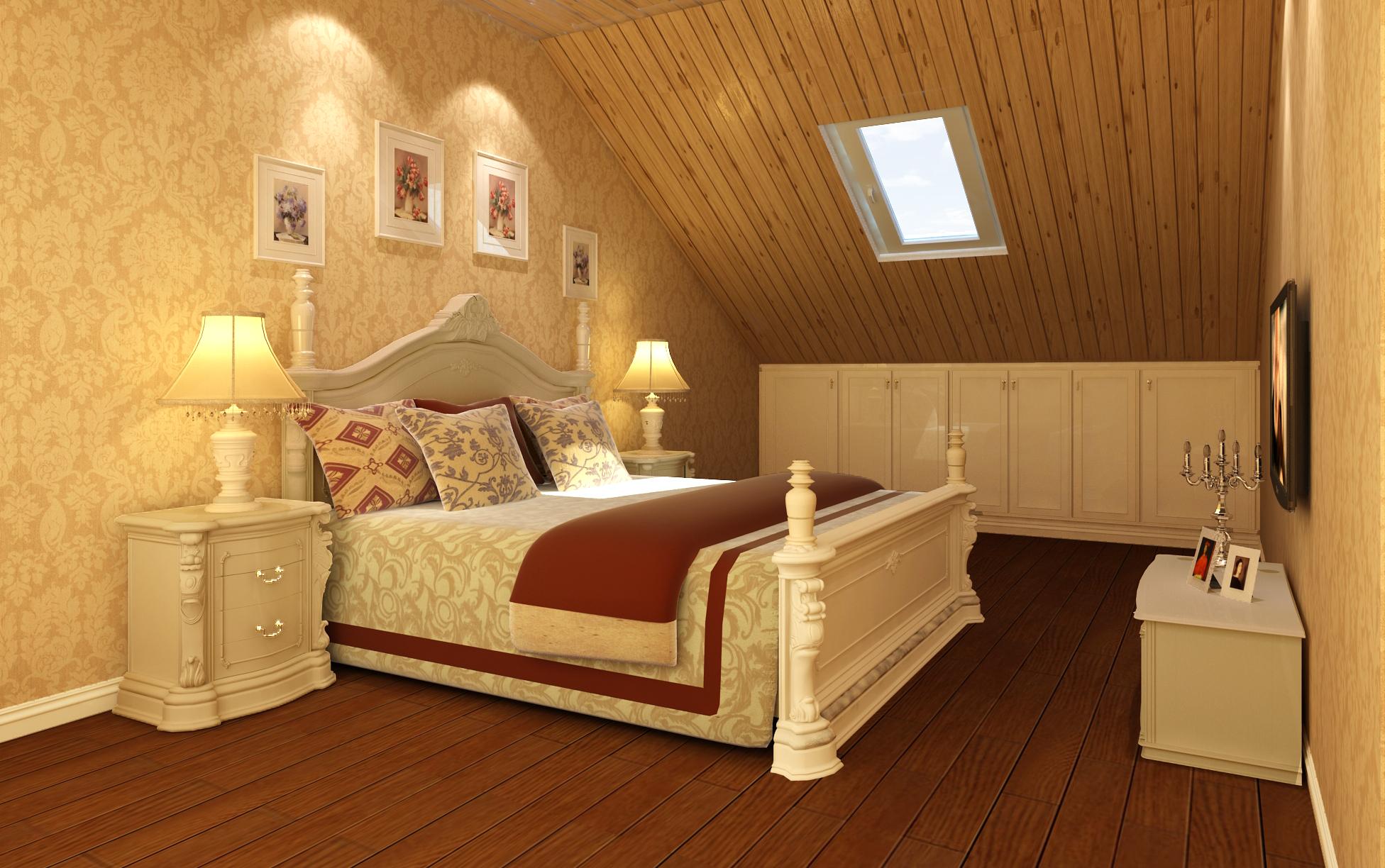欧式 复式 设计 卧室图片来自尚层装饰大林在复式经典案例赏析--温暖的奢华的分享