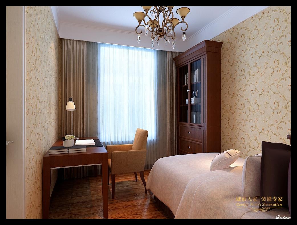 城市人家 太原装修 设计风格 新古典 卧室图片来自太原城市人家装饰在东唐花园—145平米设计的分享
