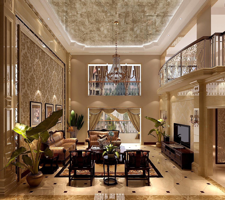 高度国际 御翠尚府 复式 欧式 客厅图片来自高度国际在高度国际-设计装饰复式楼的分享