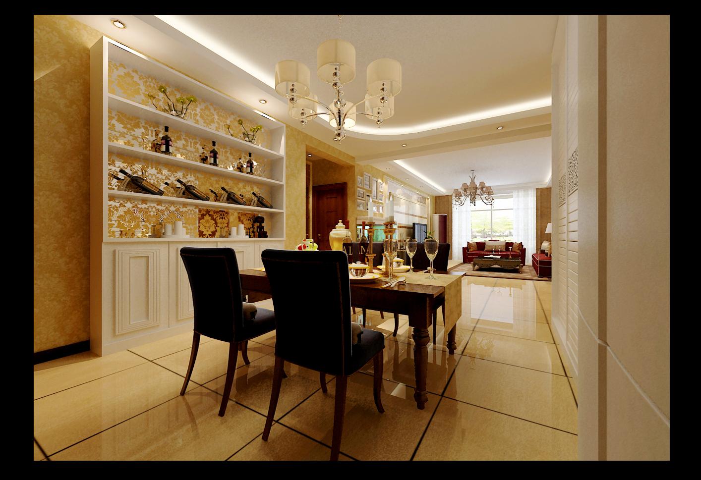 现代奢华 石家庄装修 四句 小资 新房 婚房 餐厅图片来自用户5166203636在瑞城的分享