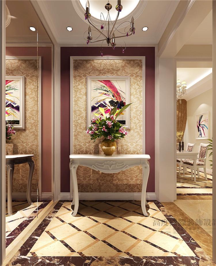 简约 欧式 设计案例 效果图 公寓 玄关图片来自高度国际设计装饰在K2百合湾120平米简欧风格的分享