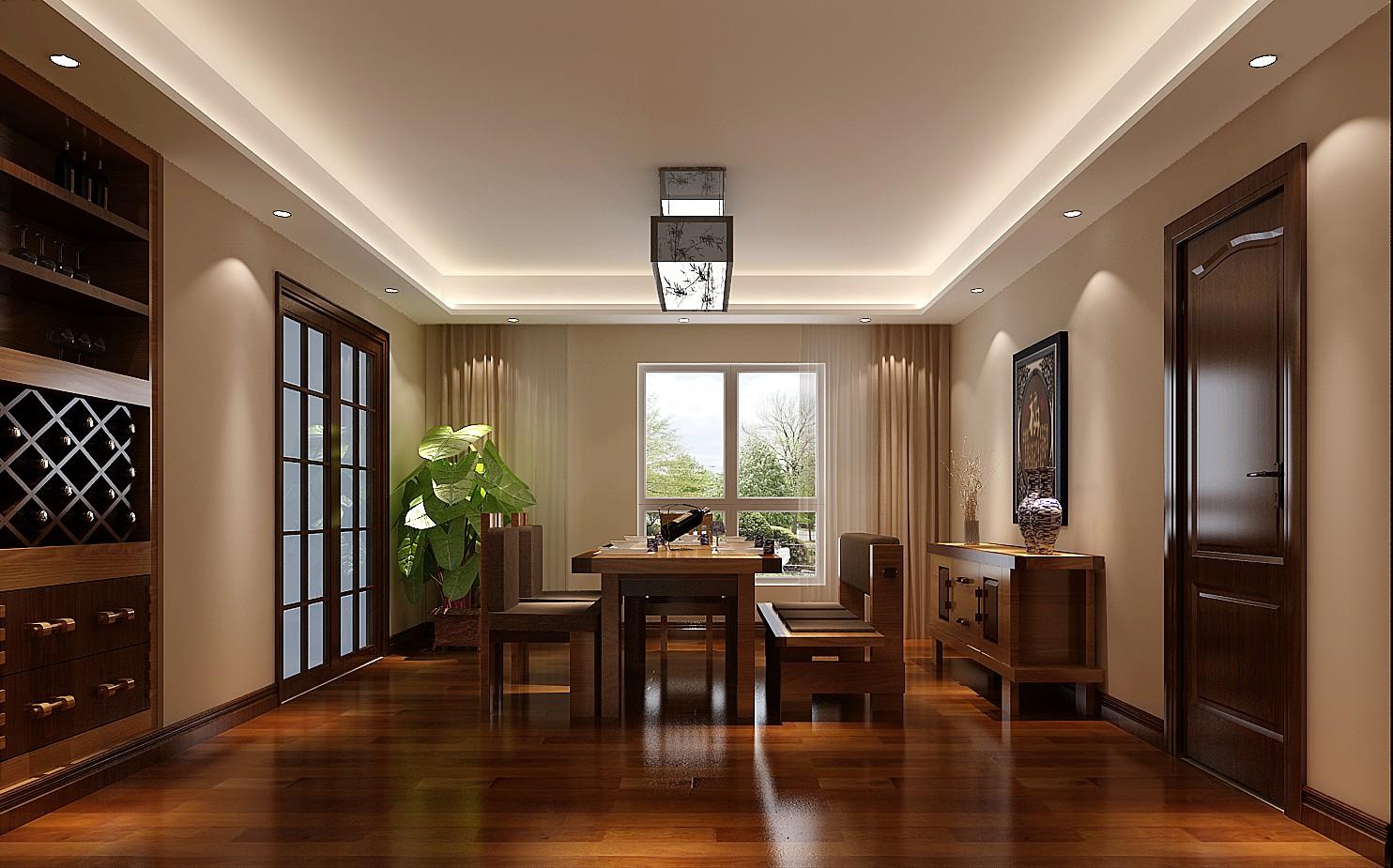 新中式 四居 白领 公寓 北京装修 高度国际 装修报价 餐厅图片来自高度国际装饰华华在军区大院的新中式设计的分享