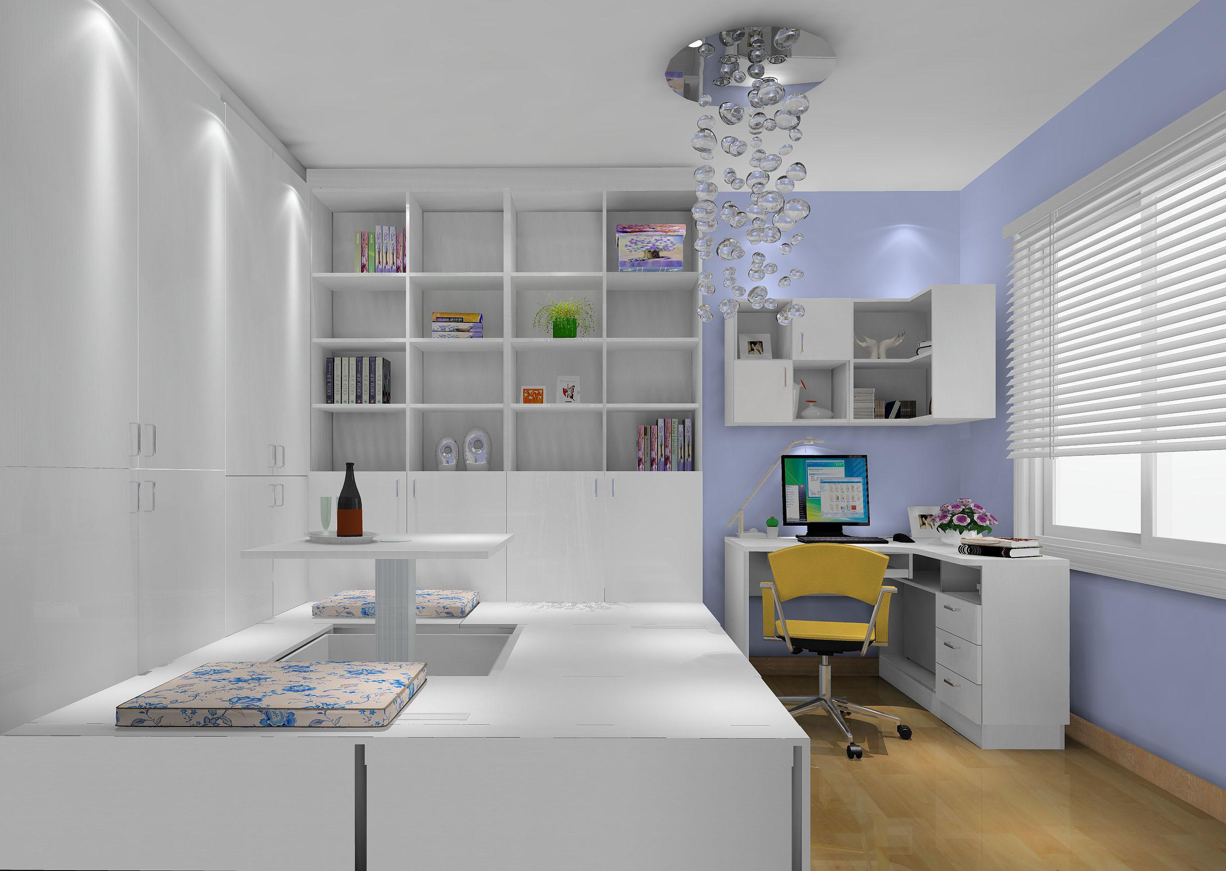 高度国际 长滩壹号 田园 公寓 书房图片来自高度国际在高度国际-168平米田园风的分享