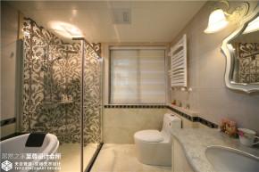 美式 混搭 清新 舒适 卫生间图片来自武汉天合营造设计在东湖春树里200平美式混搭的分享