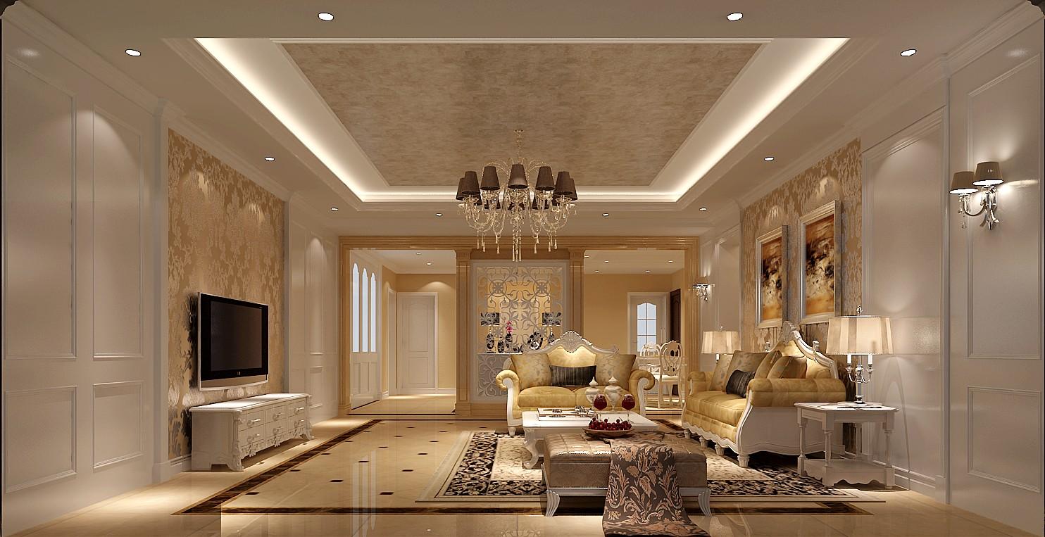 欧式 三居 白领 北京装修 高度国际 装修报价 客厅图片来自高度国际装饰华华在旭辉御府欧式设计的分享