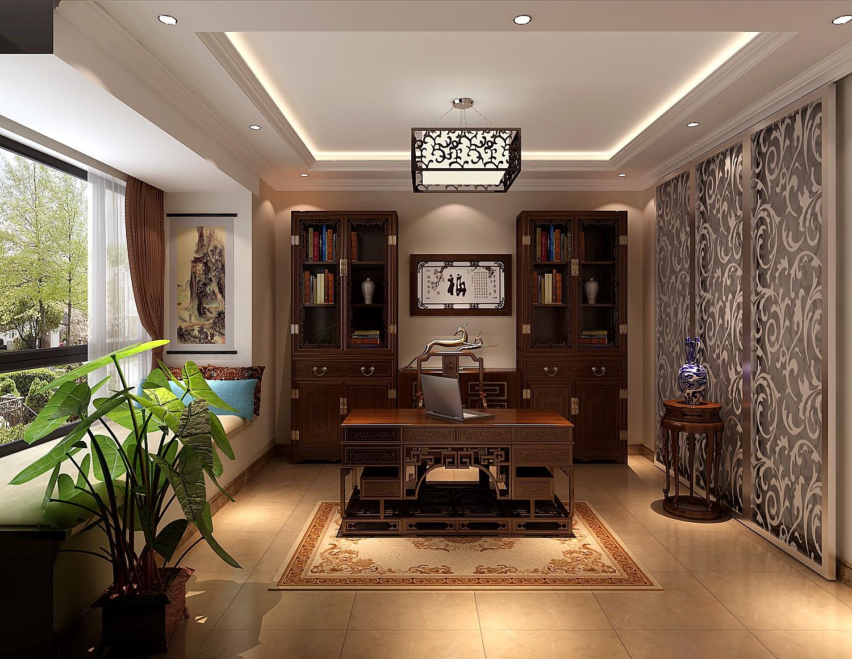 高度国际 御翠尚府 复式 欧式 书房图片来自高度国际在高度国际-设计装饰复式楼的分享