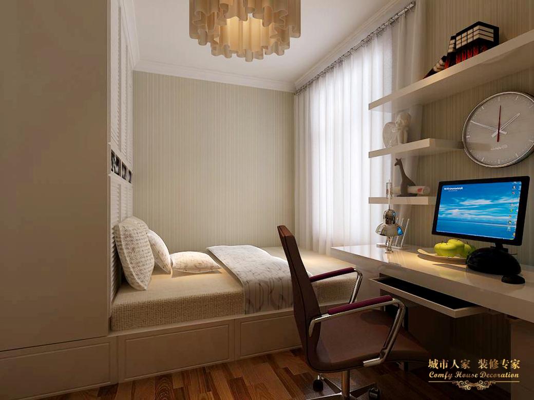 简约 城市人家 设计案例 效果图 卧室图片来自太原城市人家装饰在御龙庭—128平米设计的分享