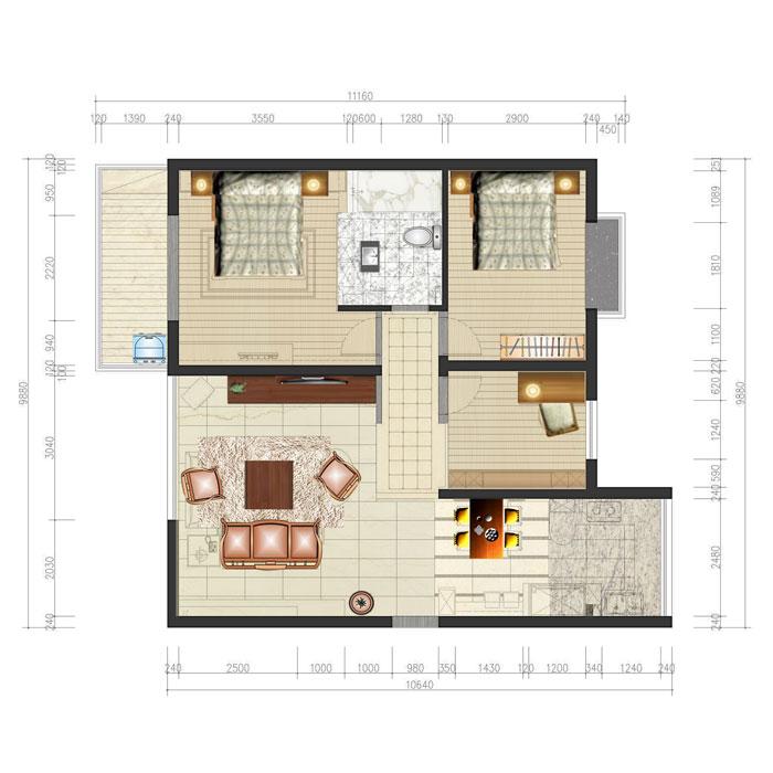 简约 普罗旺世 三居 温馨 小资 郑州业之峰 户型图图片来自文金春在华而实的风格,简约而不同的格调的分享
