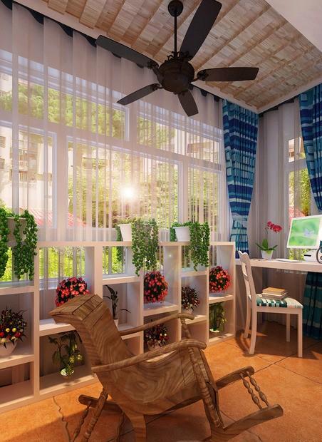 阳台 地中海风格 蓝堡湾 阳台图片来自超凡装饰季国华在蓝堡湾装修效果图的分享