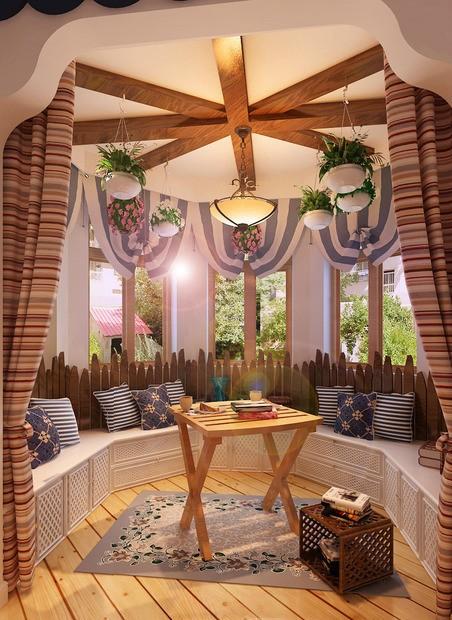 卧室阳台 地中海风格 蓝堡湾 阳台图片来自超凡装饰季国华在蓝堡湾装修效果图的分享