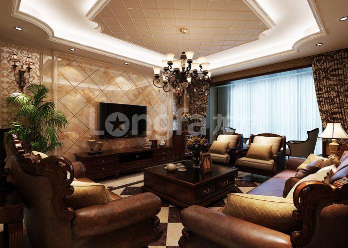 欧式 古典 四居 卧室 龙发装饰 客厅图片来自龙发装饰集团西安分公司在欧式古典160天朗大兴郡的分享