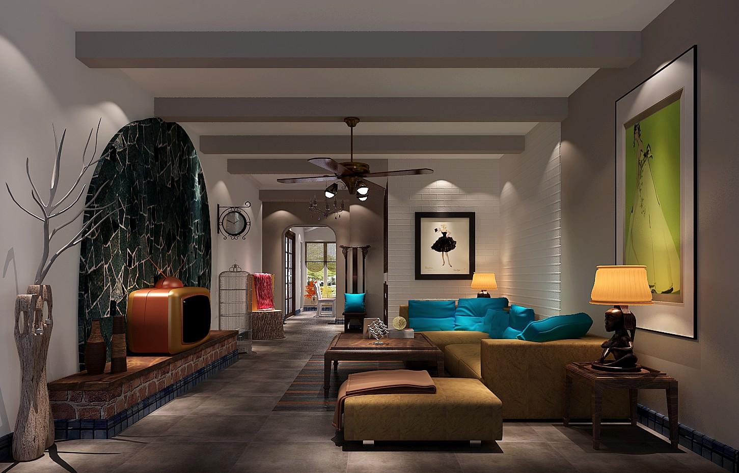 高度国际 中景江山赋 北美极简 公寓 客厅图片来自高度国际在高度国际-114平米北美极简风格的分享