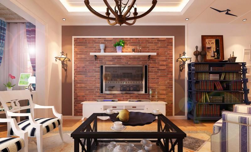 客厅效果图 地中海风格 蓝堡湾 客厅图片来自超凡装饰季国华在蓝堡湾装修效果图的分享