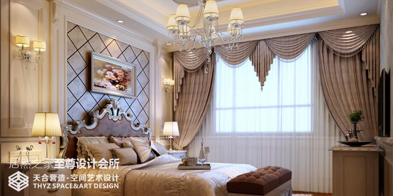 别墅 英式 卧室图片来自武汉天合营造设计在华润中央公园500平联体别墅的分享
