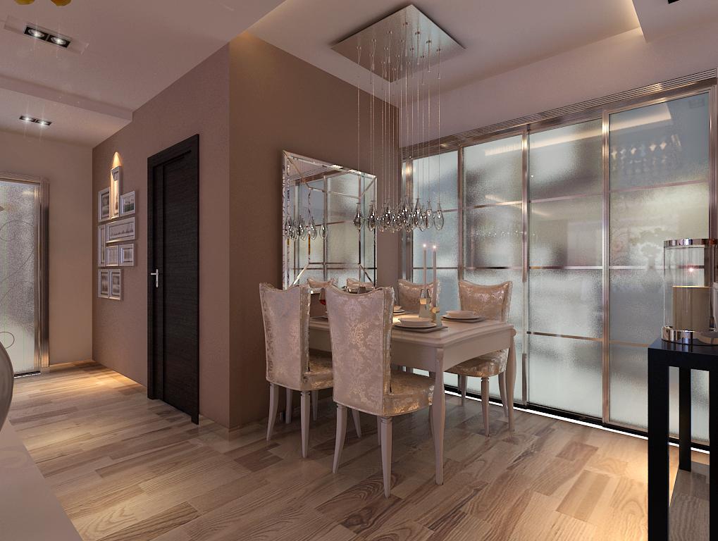简约 二居 餐厅图片来自百家设计小刘在景星花园 80平  现代风格 2.8万的分享