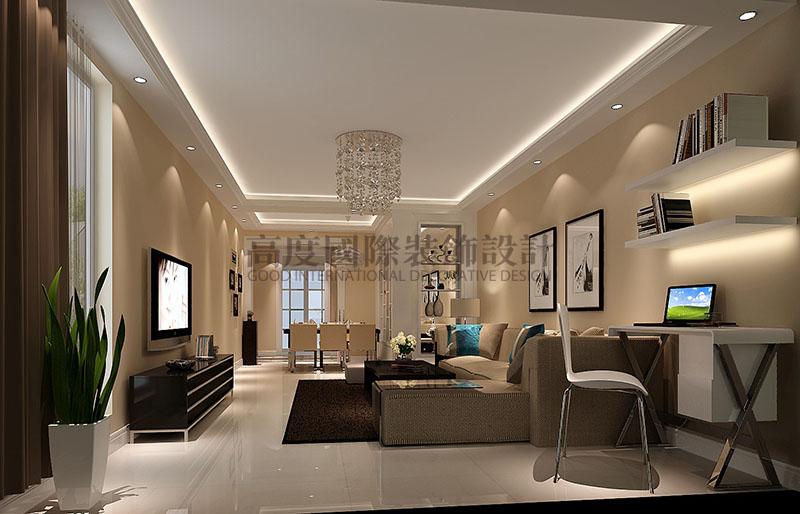 高度国际 中景江山赋 现代简约 公寓 客厅图片来自高度国际在高度国际-86平米现代简约的分享