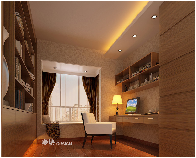 欧式 三居 白领 小资 书房图片来自用户3227078344在三湘海尚——品的分享