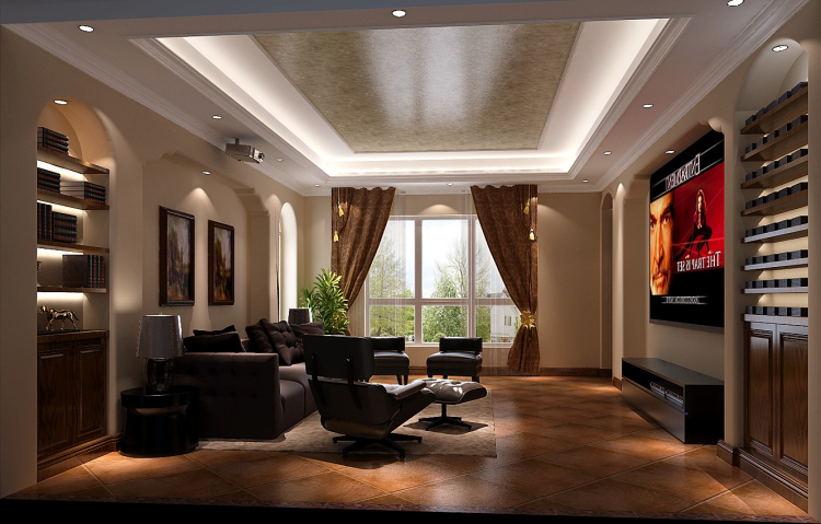 欧郡香水城 独栋别墅 欧式田园 高度国际 希文 客厅图片来自高度国际装饰宋增会在欧郡香水城 独栋别墅的分享