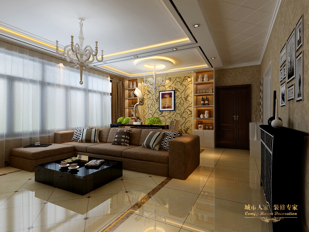 简约 城市人家 设计案例 效果图 客厅图片来自太原城市人家装饰在御龙庭—128平米设计的分享