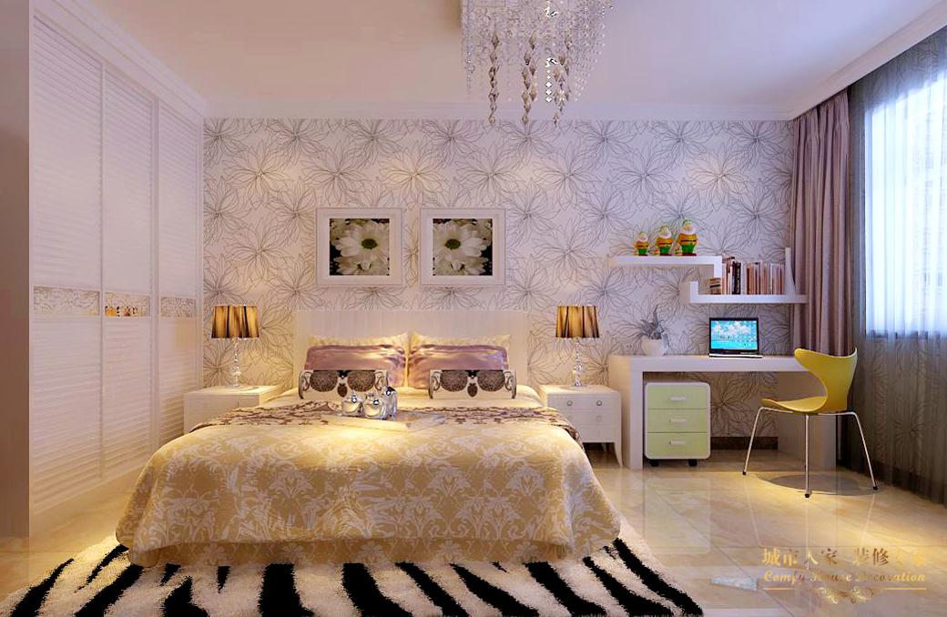 简约 城市人家 设计案例 现代简约 卧室图片来自太原城市人家装饰在富士康苑—120平米设计案例的分享