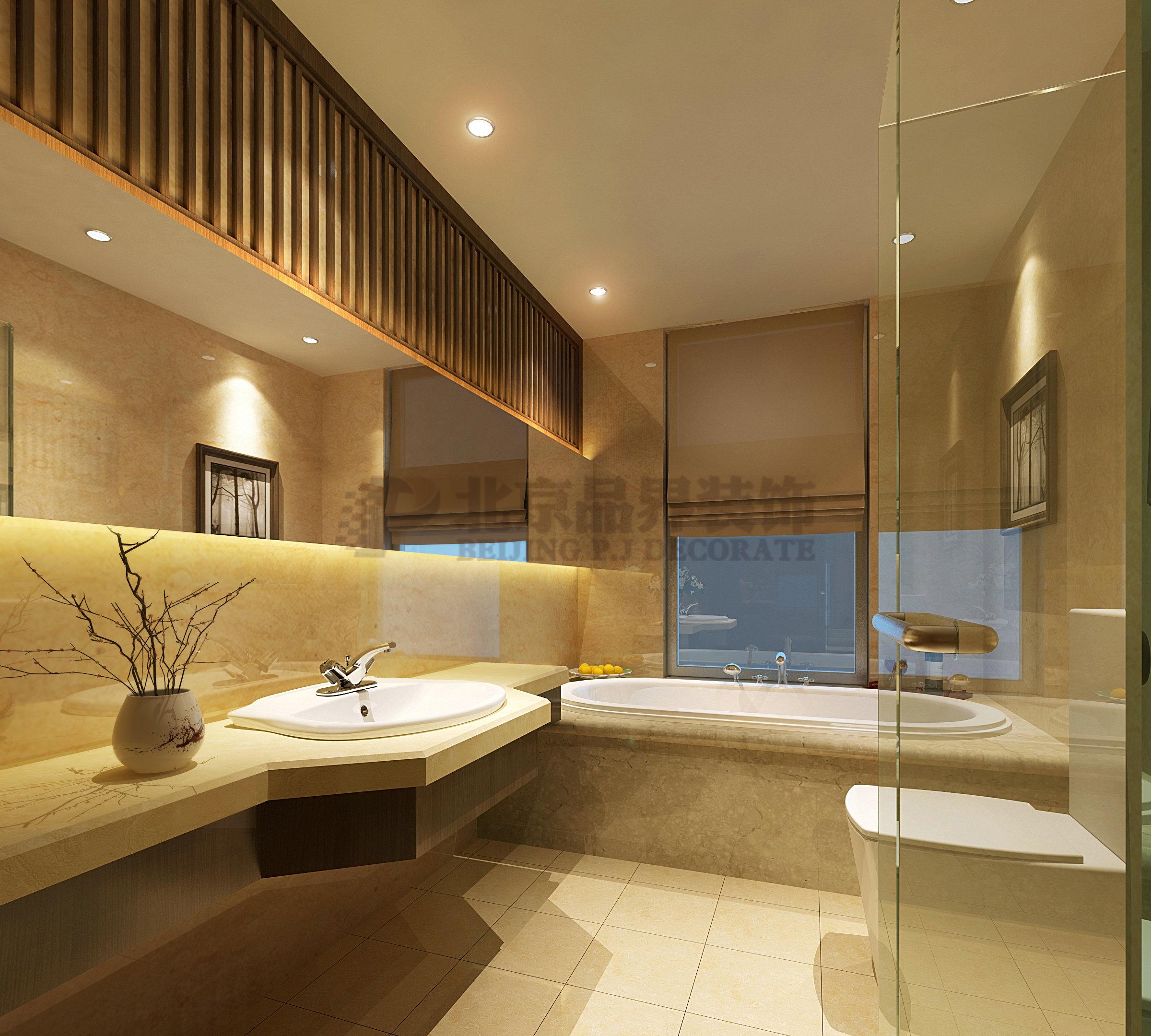 卫生间图片来自石家庄品界国际装饰在品界国际装饰新中式风格的分享