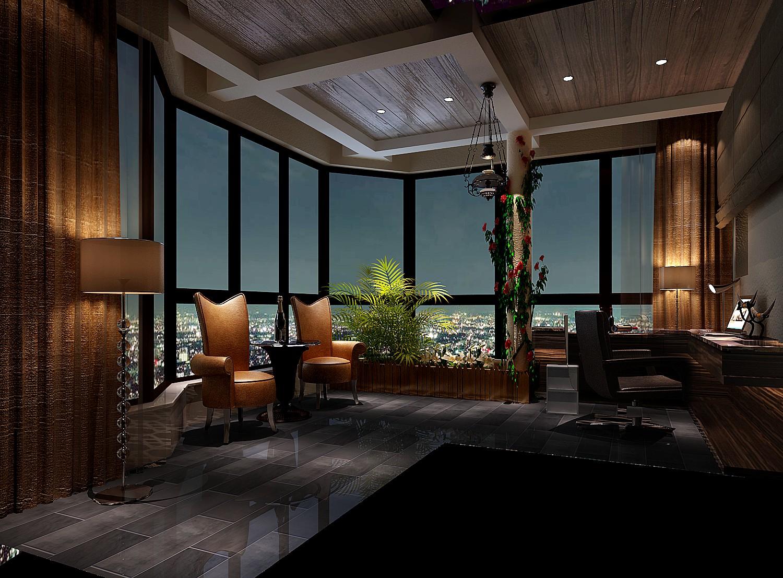 高度国际 御翠尚府 现代风格 公寓 阳台图片来自高度国际在高度国际-简约不简单的设计的分享
