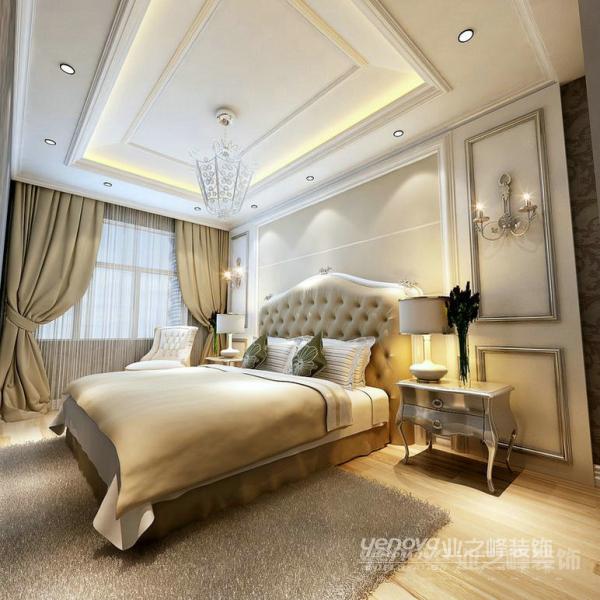 欧式 三居 温馨 普罗旺世 郑州业之峰 卧室图片来自北京业之峰郑州直营店在120平欧式风格设计方案的分享